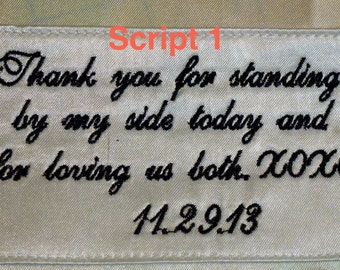 Custom Embroidery Label for Bridal Clutch or Bridesmaid Clutch