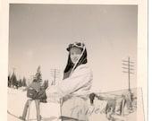 Vintage Mid Century  Ski Photo - Woman Skiier - 1950s  - Snow - Winter