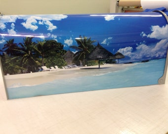 Beach themed mailbox