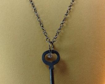 Skeleton Key Necklace Pendant