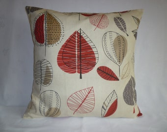 "BIG Red Gray 22"" Pillow Designer Cotton Cushion Cover Pillowcases Shams Slips"