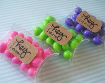 Clear Pillow Box - Qty 10 - 2x3 - Pillow box - Treat Packaging - Candy Box - Clear Box