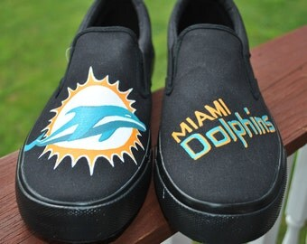 Mens Hand Painted Miami Dolphins size 12 - Sold
