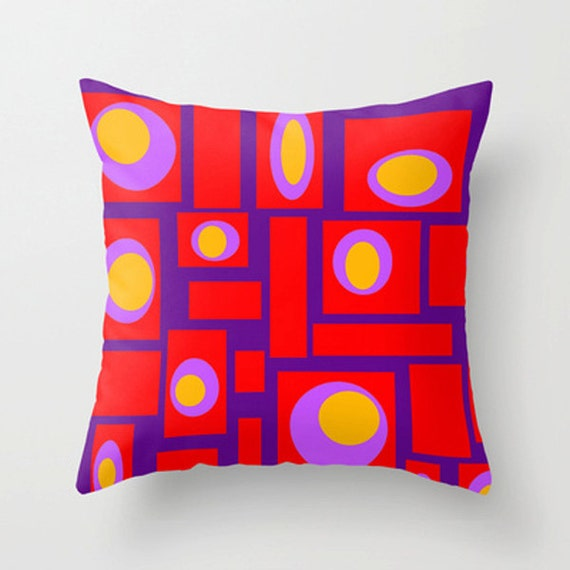 Modern Pillows Etsy : Items similar to Modern Pillow, Modern Throw Pillow, Modern Purple Throw Pillow, Geometric ...