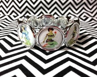 Zombie pinup girl bracelet