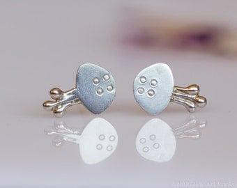 JELLYFISH Stud Earrings Sterling Silver Mini Zoo