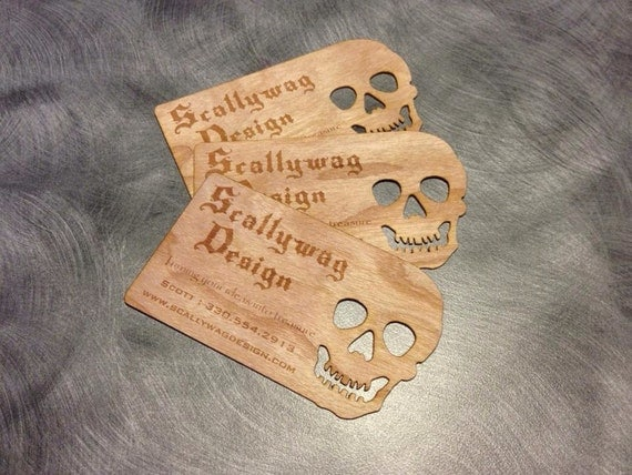 100 Very Unique Custom Wooden Business Cards Laser ...