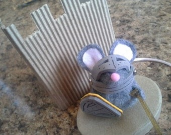 Mouse Knight Finger Puppet Knight  Hero