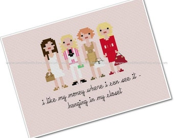 Sex In The City - The *Original* Pixel People - PDF Cross-stitch PATTERN - Instant Download