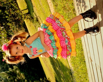 Girls Lalaloopsy Party Dress, Girls Party Dress, Birthday Party Dress, Girls Summer Dress