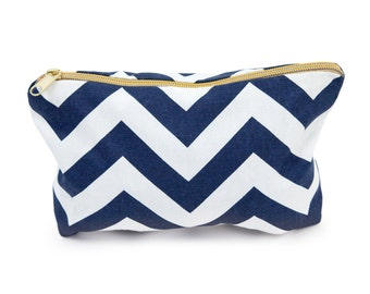 Popular items for chevron makeup bag on Etsy