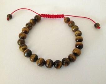 Tibetan mala Tiger Eye Wrist mala/ Bracelet for meditation GMS-65