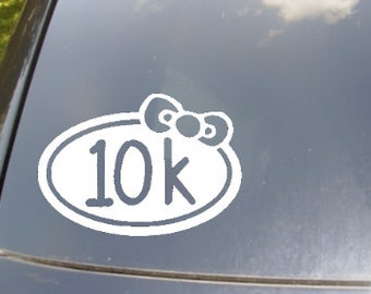 Girly 10k Run Vinyl Car Sticker