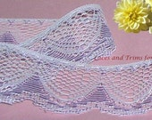 Lavender Lace Trim 10 Yards Scalloped 1-5/8 inch wide Lot M90 Added Items Ship No Charge