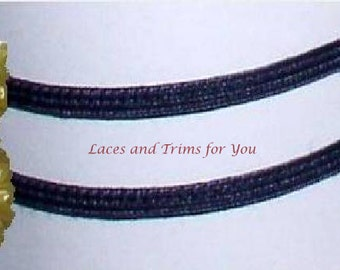 Navy Braided Trim 12/24 Yards Flat Narrow 3/16 inch Lace Trim O40 Added Items Ship No Charge