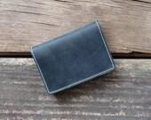 Black Card Wallet- Leather Minimal Wallet