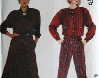 McCalls 3397 Misses Blouse Skirt and Pants Vintage Sewing Pattern