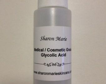 30% Glycolic Acid 2 oz. Medical grade/ ANTI: Wrinkle, Acne, Blackheads, Scars, Age spots, uneven skin tone.