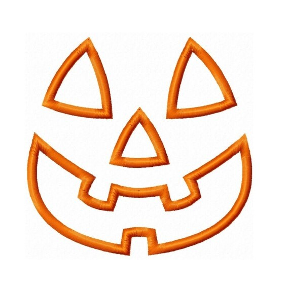 Digitizing Dolls Halloween Pumpkin Jack O Lantern Face Applique Machine Embroidery Design 4x4 5x7 6x10 INSTANT DOWNLOAD