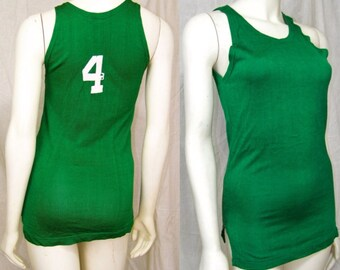 Vintage 1960s athletic tank top Number four Athletic House Knoxville Oak Ridge