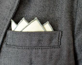 Men's Pocket Square in Yellow Oxford Cotton - handkerchief wedding groomsmen suit washable