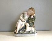 Infant St. John the Baptist w/Lamb and Cross Statue