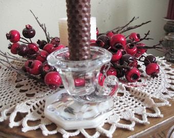 Glass Horn of Plenty Candlestick