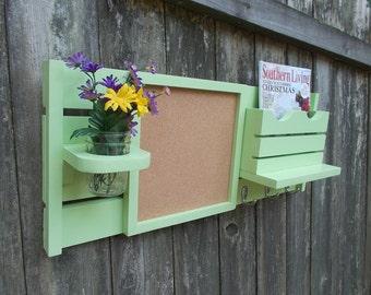 Message Center--Cork Board--Chalkboard--Kitchen Decor--Mail Organizer--Magazine Holder