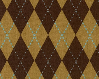 Fabric Finders Brown Argyle Cotton