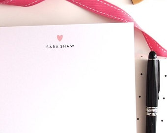 Personalized Notepad - Simple Heart