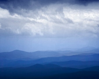Blue Ridge Parkway Mountains and Cloud Formation in Virginia No.056 - A National Park Landscape Photograph