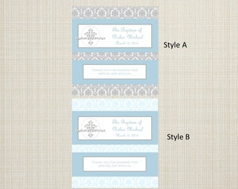 Full Size Candy Bar Wrappers - Baptism, First Communion, Confirmation, Cross, Christening - You Print