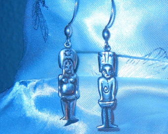 Vintage Earrings Woman and man Sterling Silver 7.30g