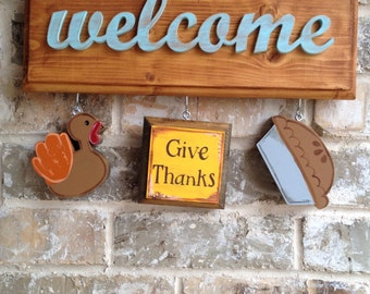 Thanksgiving Ornaments for Welcome Sign