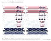 Nautical Party Straw Flags - Printable