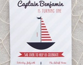 Nautical Birthday Invitation - Printable