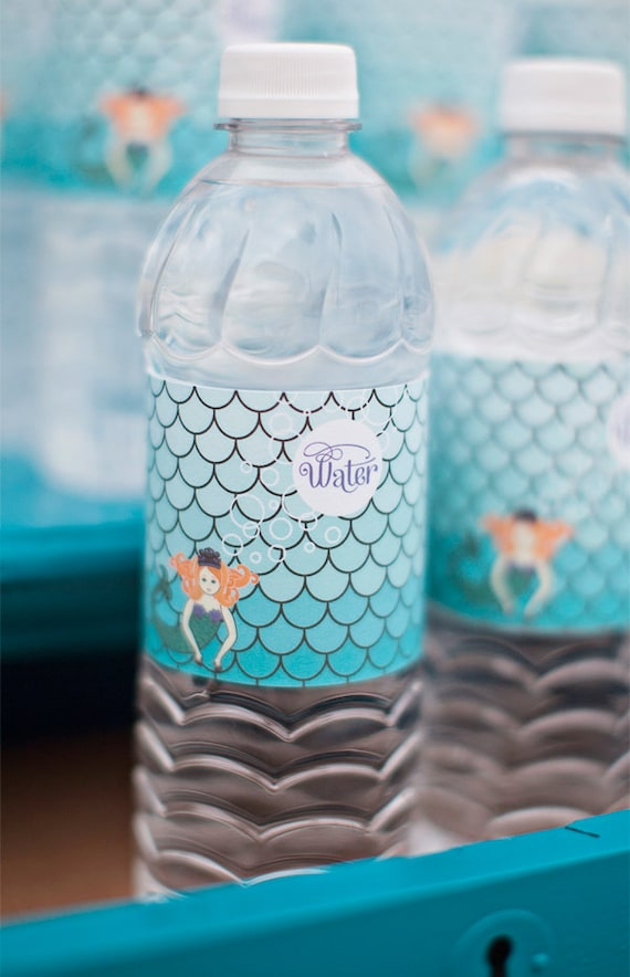 Mermaid Water Bottle Labels - Printable