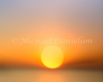 Out of Focus Sunset Photograph Print 8x10