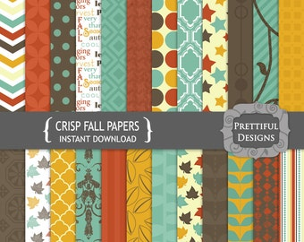 Digital Paper Pack - Personal and Commercial Use - Crisp Fall