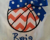 Basketball Applique shirt with bow