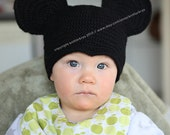 3-6 months size Mickey Mouse beanie / hat ( made to order ).