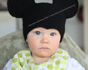 6-12 months size Mickey Mouse beanie / hat ( made to order ).