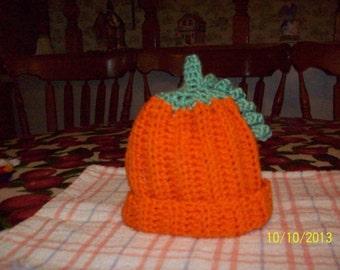 Crocheted Pumpkin Baby Beanie
