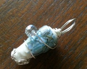 Wire Wrapped Paper Bead Pendant