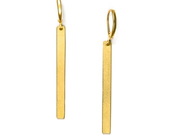 QUITO//RIO - Minimalist Gold-coated brass earrings RIO (FBO12)