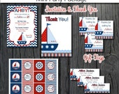 Nautical Sailboat Birthday Party Package  - DIY Printables