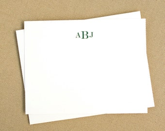 Monogrammed Note Cards / Personalized Monogrammed Stationary Gift Set