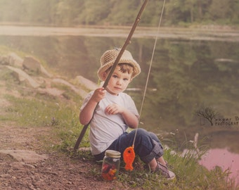 Fishing Hat and Fish-phot prop, hat, fish, baby