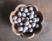 Felted wool acorns, Light Grey, wholesale set of 50, grey felt acorns for winter wedding decor, fall wedding favors, woodland weddings