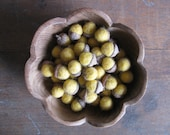 Felted wool acorns, Yellow, wholesale casepack of 50
